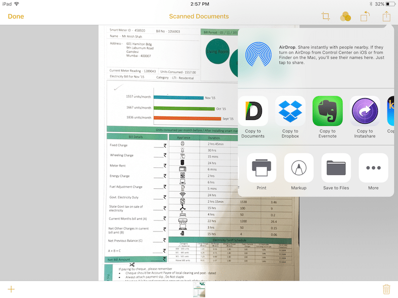ios 11 document scanning notes app 1