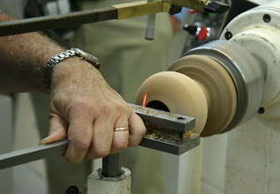 Photo: The Don Derry hollowing system in action