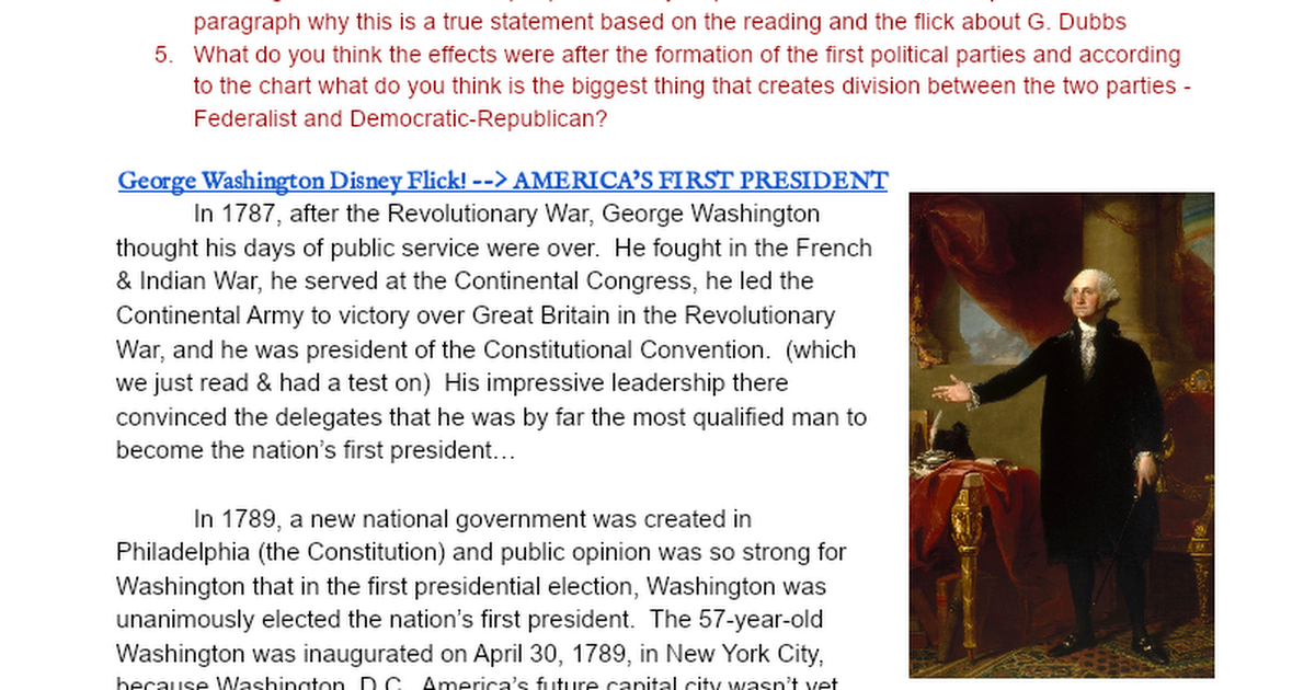 an introduction to the importance of the nations development by george washington Figure 82 technology is the application of science to address the problems of daily life, from hunting tools and agricultural advances, to manual and electronic ways of computing, to today's tablets and smartphones.