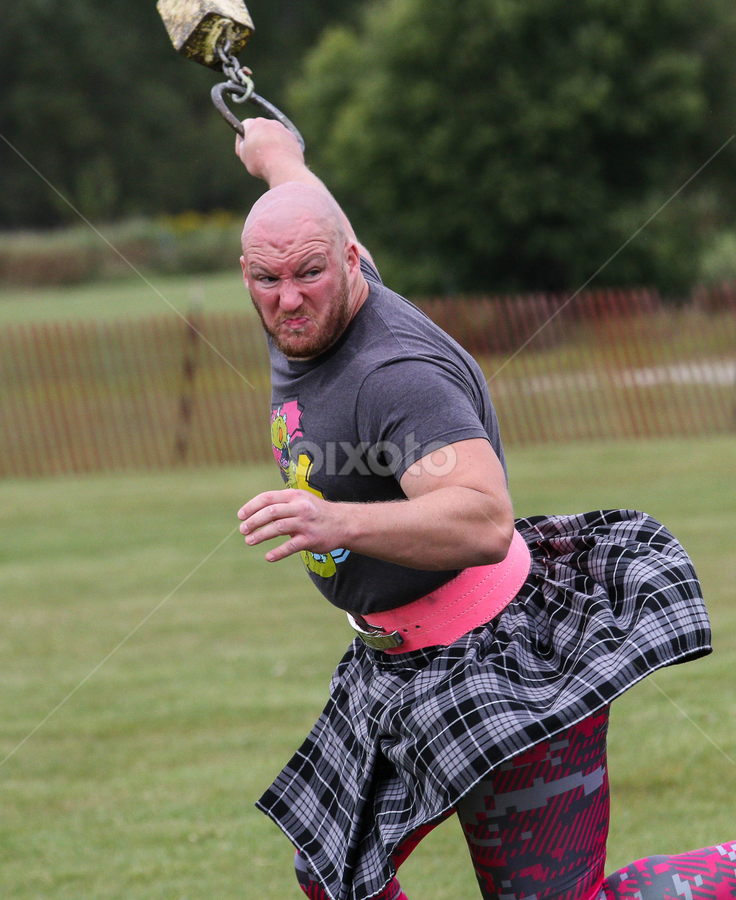 Weighted determination by Michael Stefanich Jr. - Sports & Fitness Other Sports ( highland, throw, wisconsin, games, kilt, weight, sports, determination, scottish )