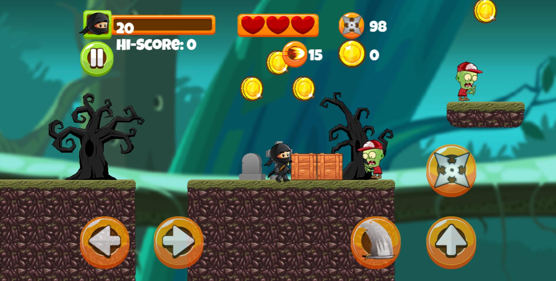 ninja kid vs zombies android apps on google play