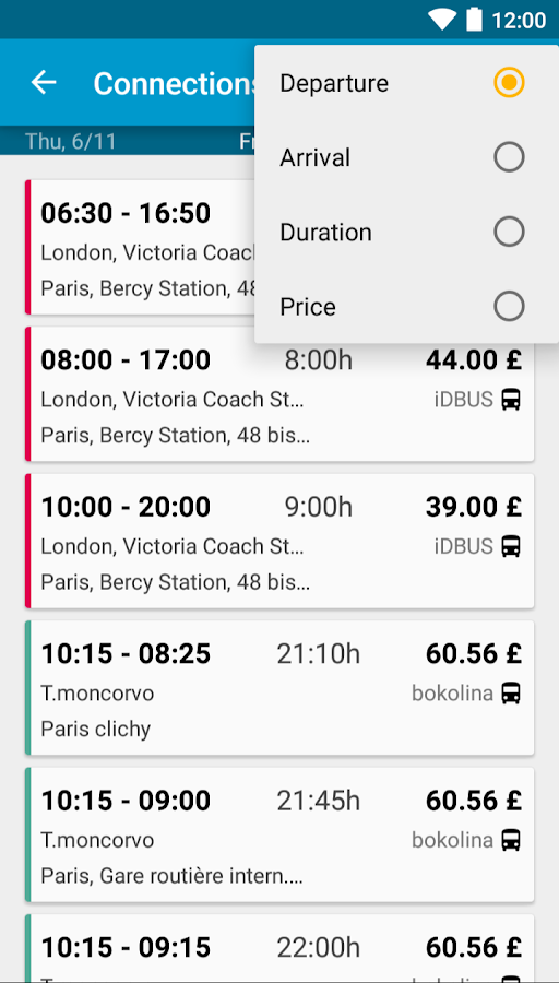 Busradar - Bus Trip App- screenshot