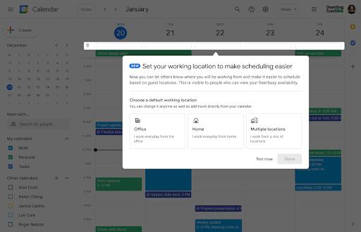 Google Calendar y grupos de seguridad