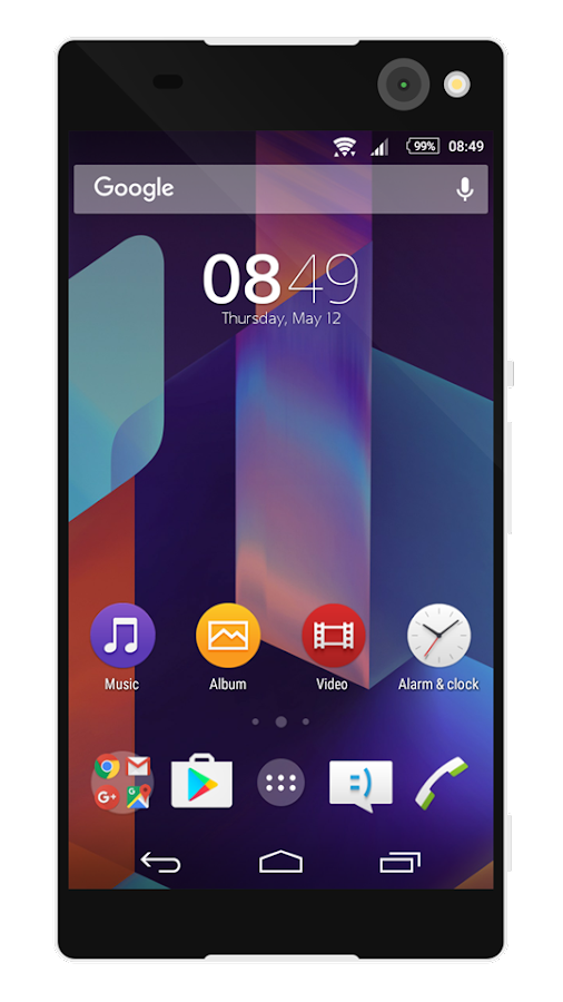 KK4.4 | Free Sony Xperia Theme- screenshot