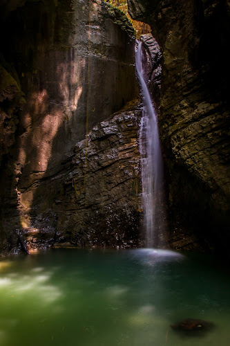 by Mario Horvat - Landscapes Waterscapes ( slovenia, sunrays, cave, hidden, waterscape, kozjak, popular )