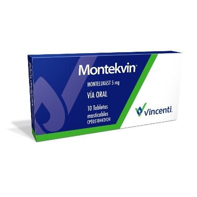 Montelukast Montekvin 5mg x 10 Tabletas Masticables