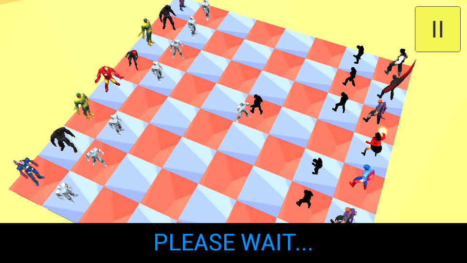 3d Super Hero Chess- screenshot