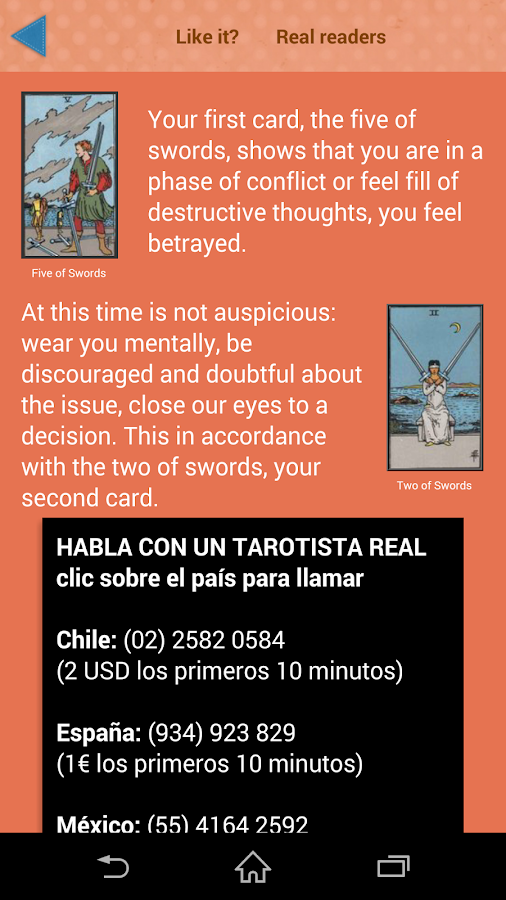 Your Free Tarot- screenshot