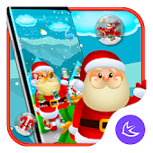 Merry Christmas APUS Launcher Theme Android APK Download Free By Cool Theme Team