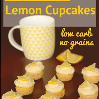 Low Carb Lemon Cupcakes.