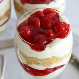Mini Cherry Cheesecake Trifles