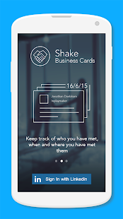 Shake - Business cards screenshot