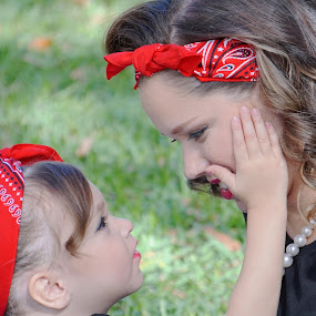 Mom & Daughter 50's Picnic by Alycia Marshall-Steen - People Family (  )