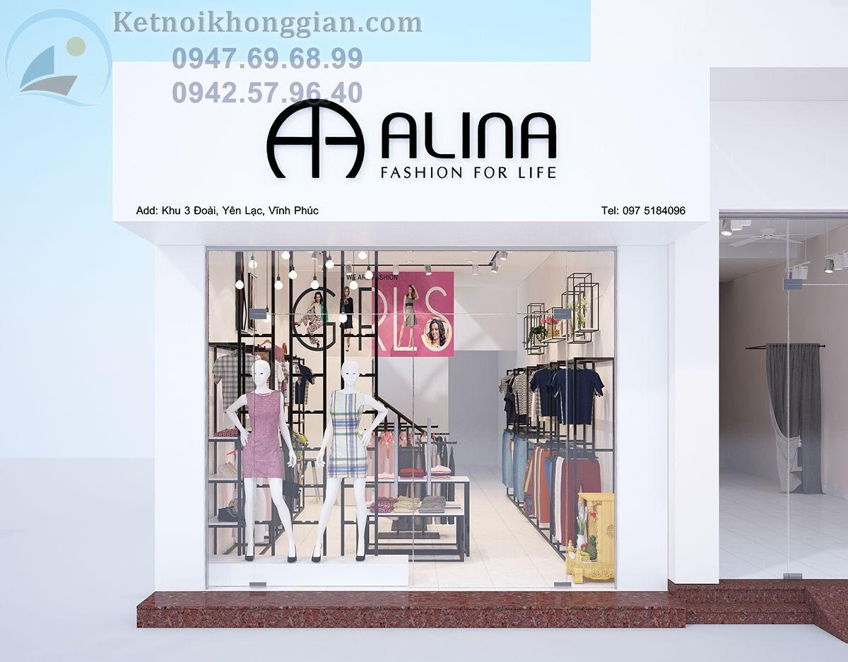 thiết kế shop thời trang công sở cuốn hút