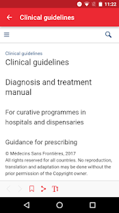 MSF Medical Guidelines: miniatuur van screenshot