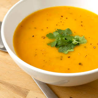 Vegan Carrot and Coriander Soup With Ginger Recipe (Gluten-free).