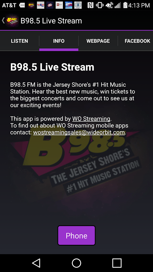 B98.5 Live Stream- screenshot