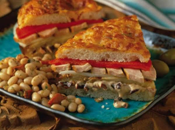 Tuscan Style Pork Tenderloin Sandwich