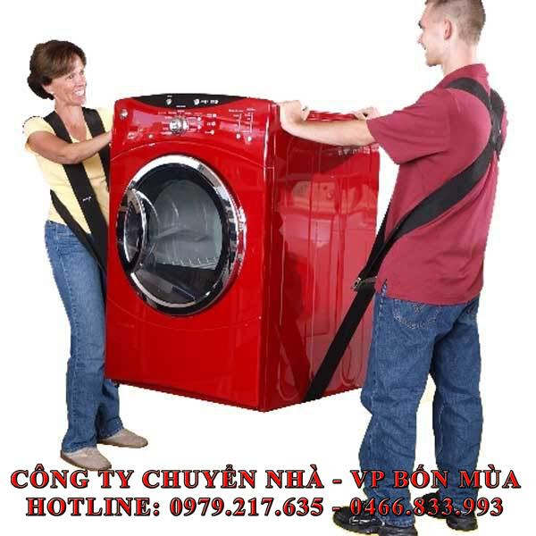 cách vận chuyển máy giặt đúng cách trong chuyển nhà