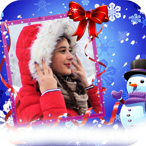 Winter Frames for Pictures with Snowfall Icon