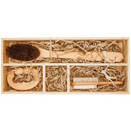 Set Bamboo masaj baie 3 piese din lemn