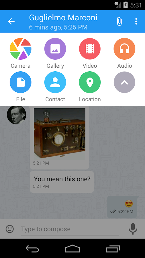 Kontalk Messenger- screenshot