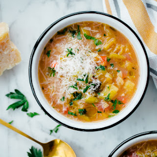 Slow Cooker Winter Vegetable Soup with Split Red Lentils.