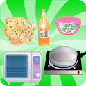 games girl cooking chicken icon
