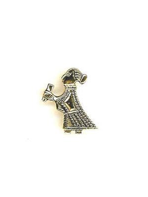 Vikingasmycke, valkyria hänge i brons med dryckeshorn