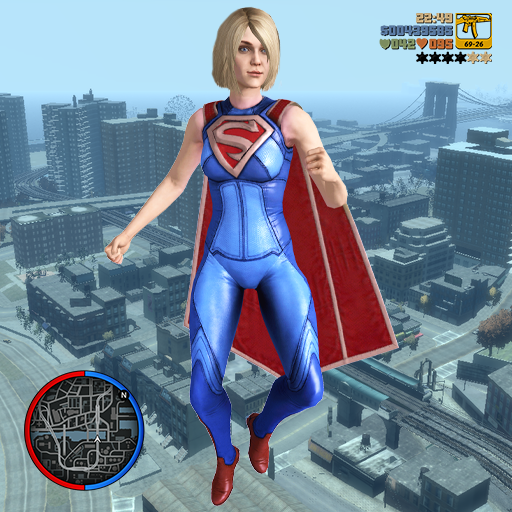 Amazin Super Girl Rope Hero -Girl strange war hero