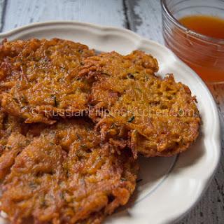Squash Okoy Recipe (Kabocha Squash Fritters).