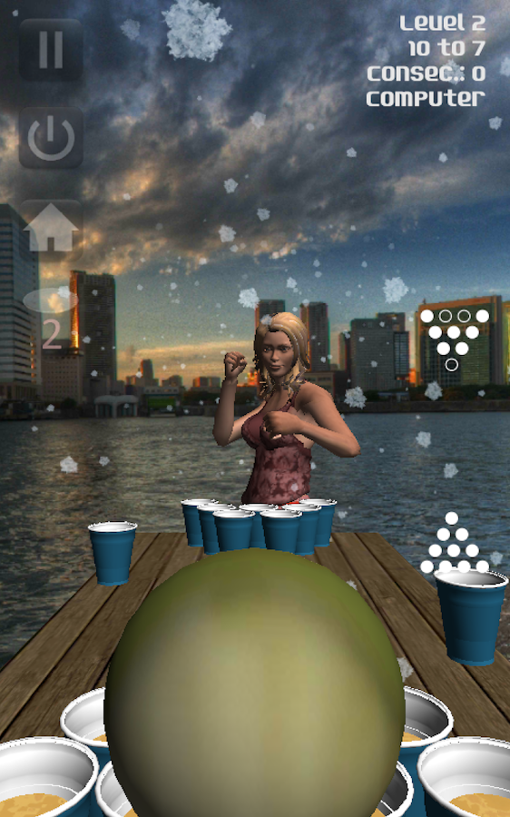 Virtual Beer Pong- screenshot