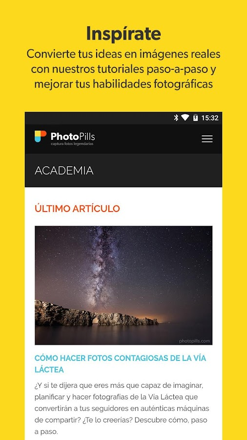 PhotoPills: captura de pantalla