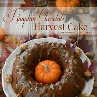 Pumpkin-Chocolate Harvest Bundt Cake!.