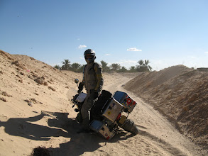 Photo: Big bike on sand? Inevitable offs... luckily its a soft landing