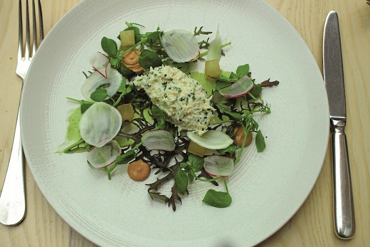 Wallace restaurant fare. Crab salad, fennel, avocado and radish. Picture: SUPPLIED