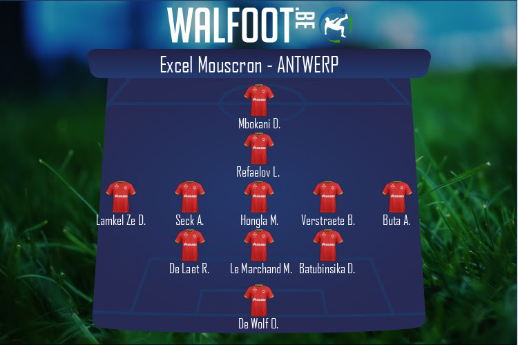 Antwerp (Excel Mouscron - Antwerp)