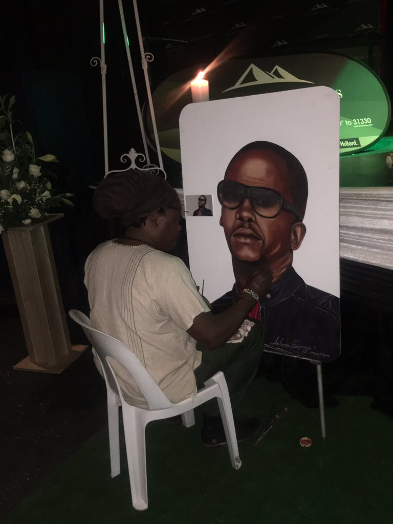 Rasta has become infamous for his painting of late celebrities.