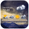 Transparent Weather Widget Raining APK