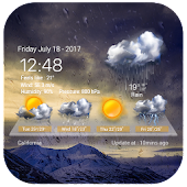 Transparent Weather Widget Raining