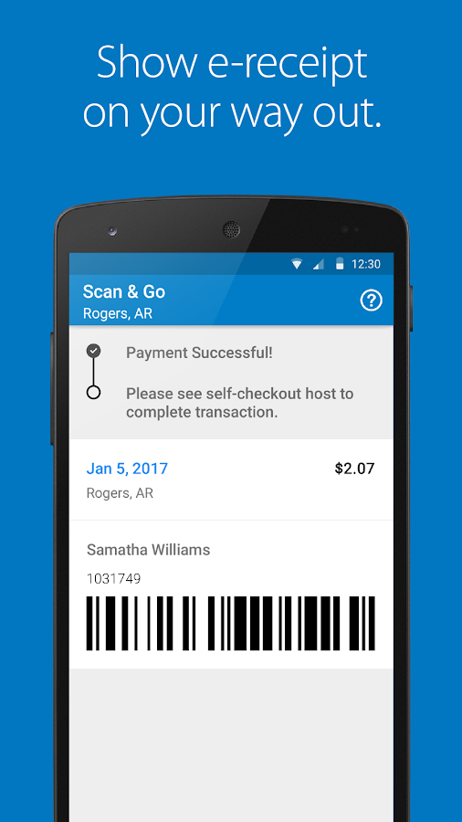 Walmart Scan & Go- screenshot