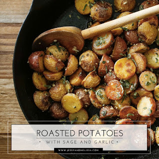 Roasted Potatoes With Sage and Garlic.