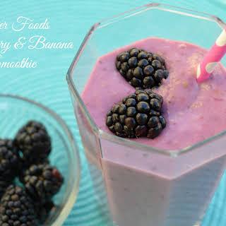 Blackberry and Banana Yogurt Smoothie.