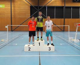 Photo: Championnat d'Alsace  2016 Simple Hommes Excellence Médaille d'Argent: Benjamin Seiler