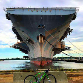Old Glory by Mark Wathen - Transportation Bicycles ( port, water, bikes, amateur, ships )