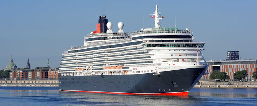 The 1,990-passenger Queen Victoria from Cunard Line in port.