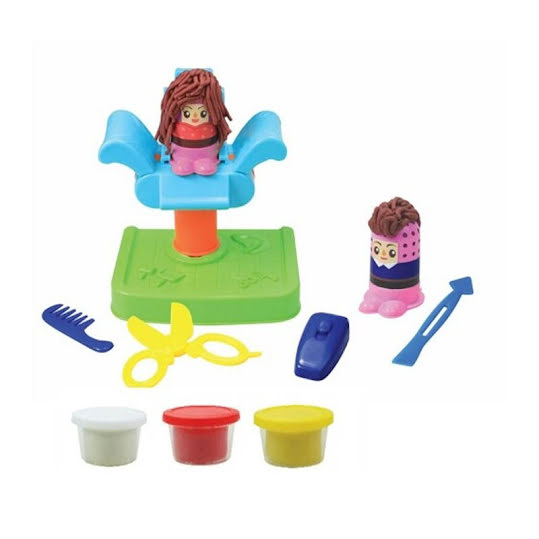 Junior Designer Dough Hairdresser playset i lera.