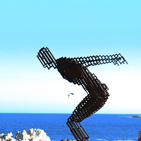 Jumping Sea Man by Hendriette Reyneke - Artistic Objects Other Objects (  )