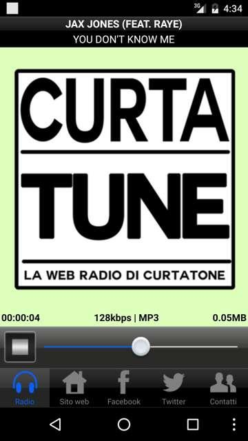 CurtaTune Web Radio- screenshot