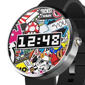 Sticker Bombing Watch Face app for android